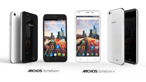 Archos представила новые устройства 50 Helium Plus и 55 Helium Plus